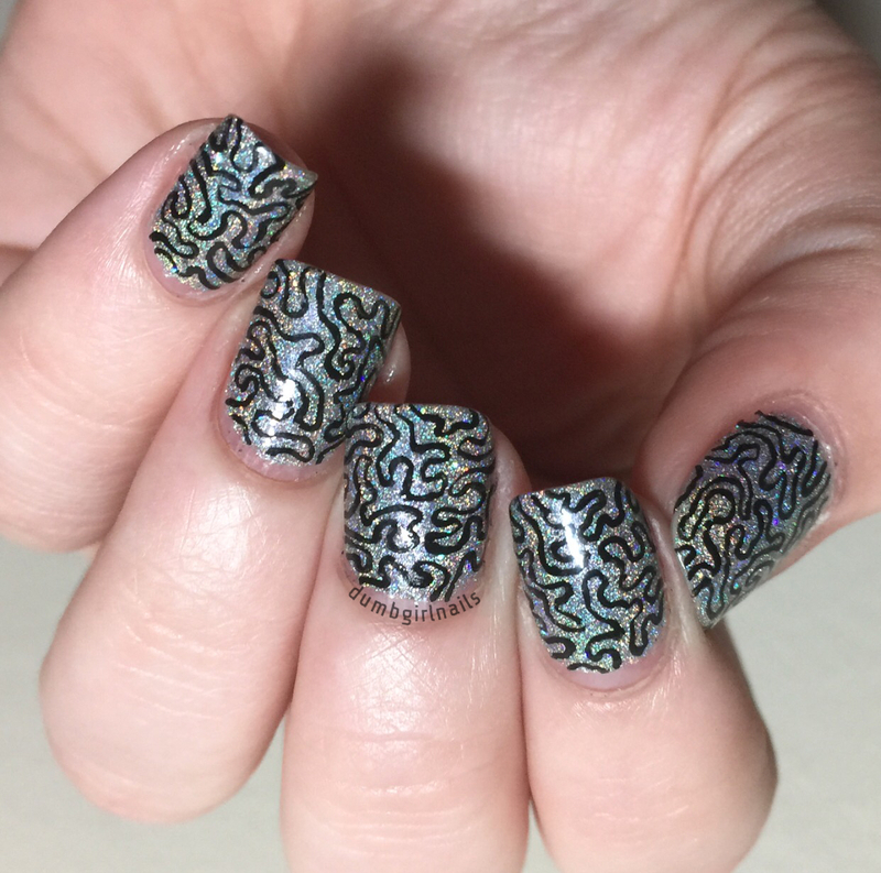 Freehand Doodle nail art by Michelle