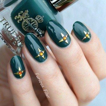 Stars nail art by Furious Filer