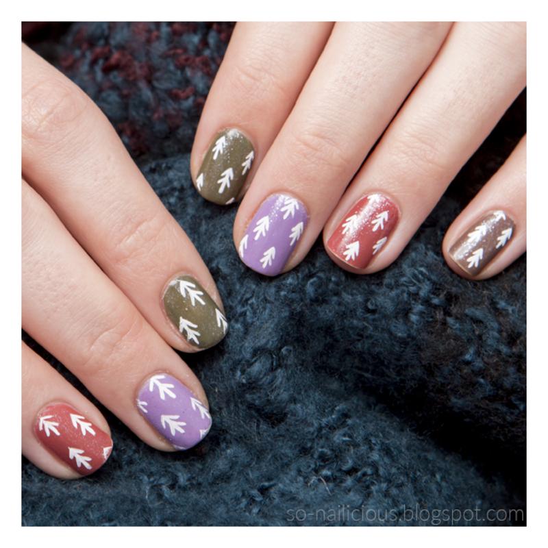 Conifers nail art by Magdalena