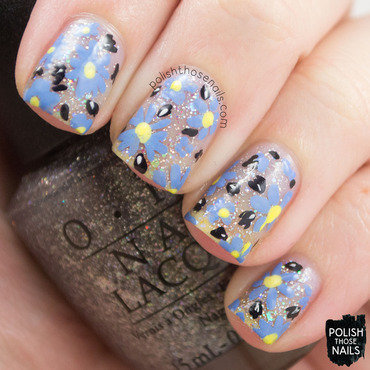 Glitter sparkly negative space floral nail art 4 thumb370f