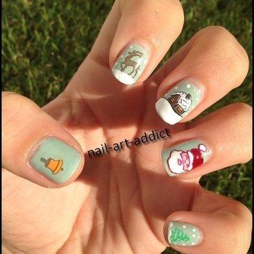 Nail Art : Stamping Inversé de Noel nail art by SowNails