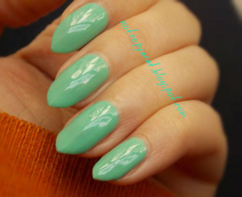 Swatch of Barry M's nail polish nail art by notcopyacat