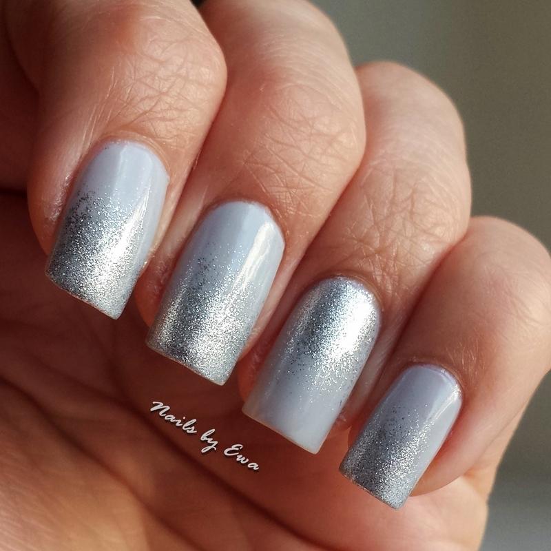 Silver ombre nails nail art by Ewa - Nailpolis: Museum of Nail Art