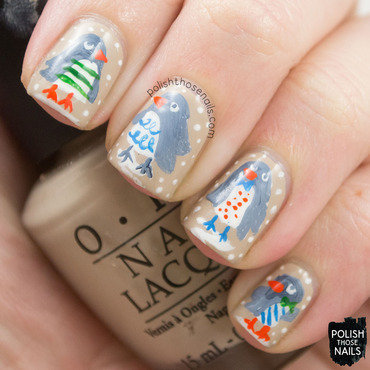 Winter penguin nail art 4 thumb370f