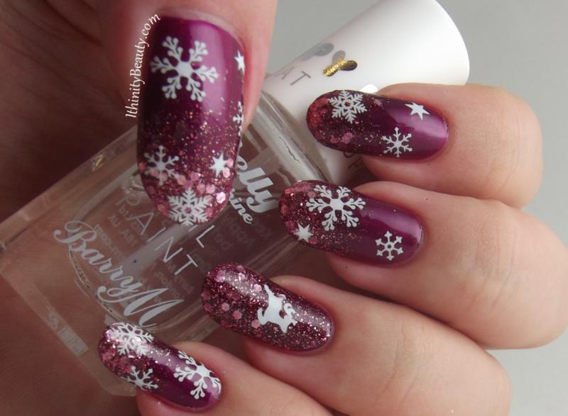 Sexy Snowflakes! nail art by Ithfifi Williams