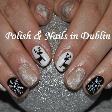 christmas nails nail art by Agnieszka