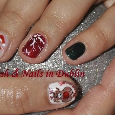 cookie raindeer chrismas nail art nail art by Agnieszka