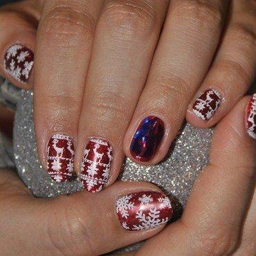 chrismas nails nail art by Agnieszka