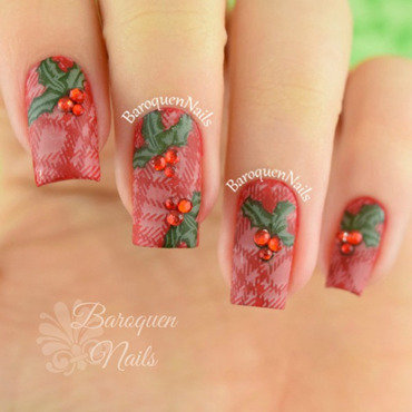 Festive nail art by BaroquenNails