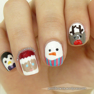 Xmas Nail Art 2015 nail art by Jessi Brownie (Jessi)