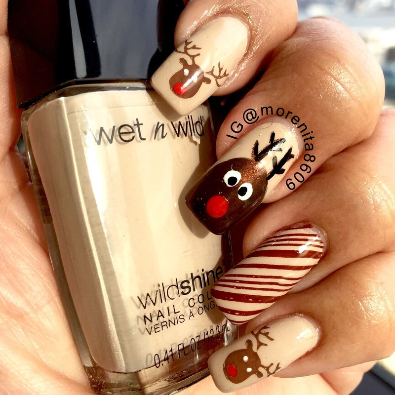 My Rudolph Nail Design  nail art by Morenita  Morena