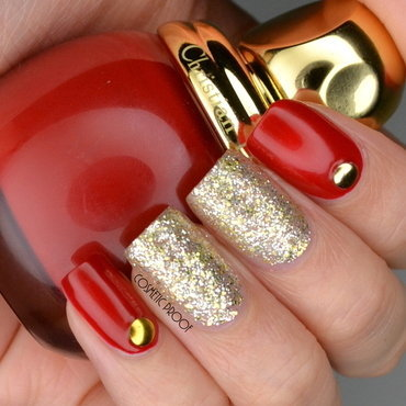 Dior 20state 20of 20gold 20red 20and 20gold 20glitter 20nail 20art 20review thumb370f
