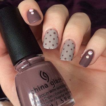 Polka Dots nail art by allwaspolished