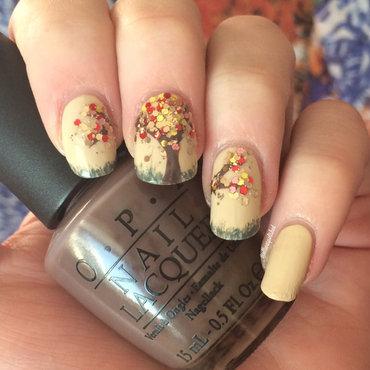 Glitter Trees nail art by allwaspolished