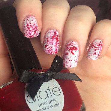 Blood Splatter nail art by allwaspolished