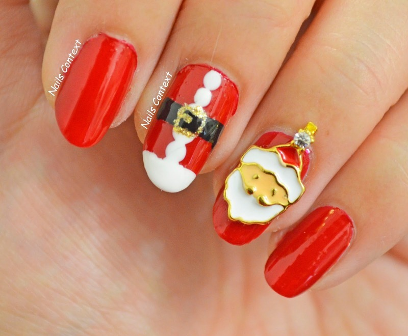 Santa Clause Nails nail art by NailsContext