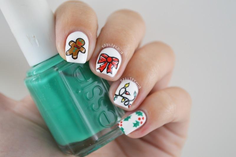 Mix n' match christmas nails nail art by Julia