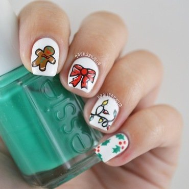 Mix n' match christmas nails nail art by Julia