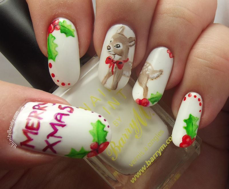 Monty The Freehand - Vintage-  Christmas Reindeer nail art by Ithfifi Williams