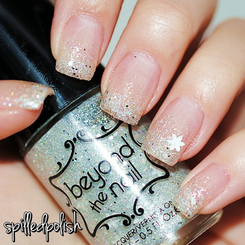 Blizzard French Tip nail art by Maddy S