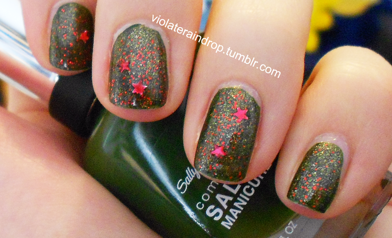 christmas colors nail art by raindrop