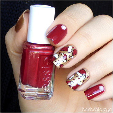 Little Santa Claus Hat nail art by barbrafeszyn