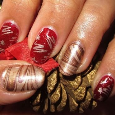 Xmas Ornament nail art by DeadCellCanvases