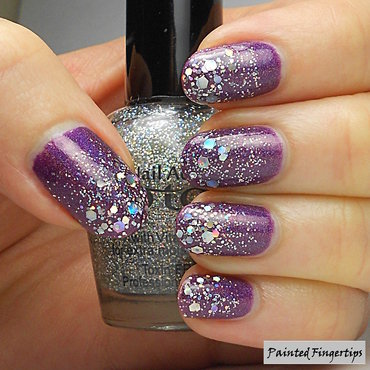 Silver glitter on purple thumb370f