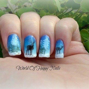 Stamping Winter Wonderland nail art by Aurora