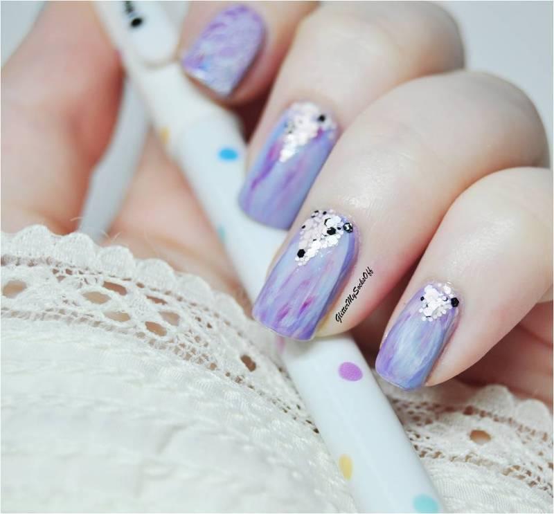 Lilac fiesta nail art by GlitterMySocksOff