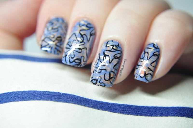 Tribute nail art by GlitterMySocksOff