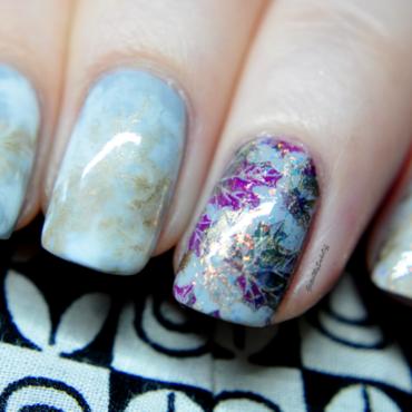 Autumn vibes  nail art by GlitterMySocksOff