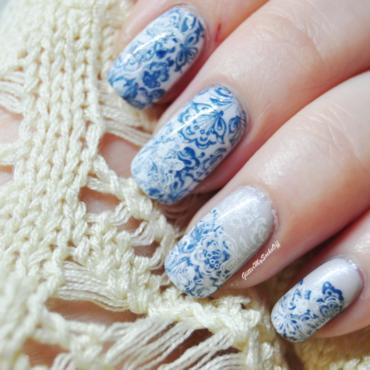 Porcelan dreams nail art by GlitterMySocksOff