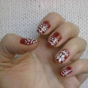 winter nail art by Brankica