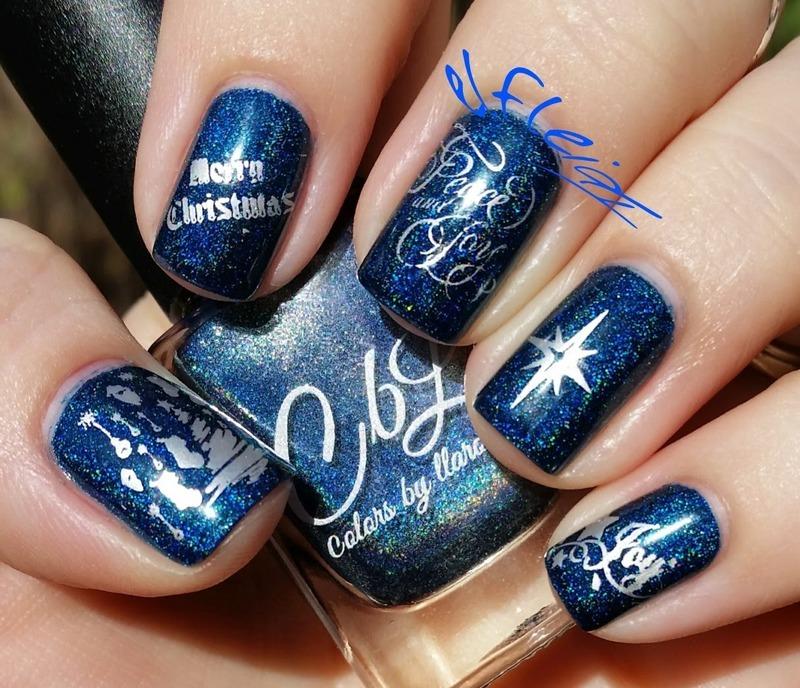 Stamping Sunday 12-20-2015 nail art by Jenette Maitland-Tomblin