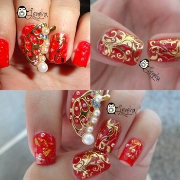 New Years Eve Party Metallic Nail Art nail art by Leneha Junsu