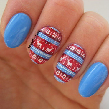Norwegian sweater #2 nail art by specialle