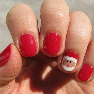 Santa Claus nail art by Nail Crazinesss