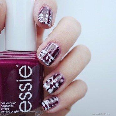 Scarf  nail art by Alina E.