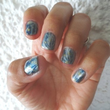 Starry NIght nail art by Avesur Europa