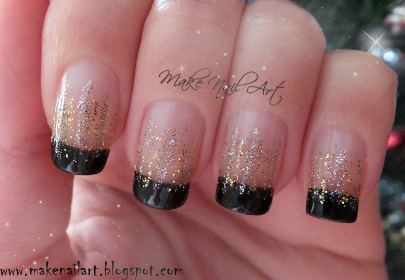 New Years Eve Glitter Waterfall Nail Art By Make Nail Art
