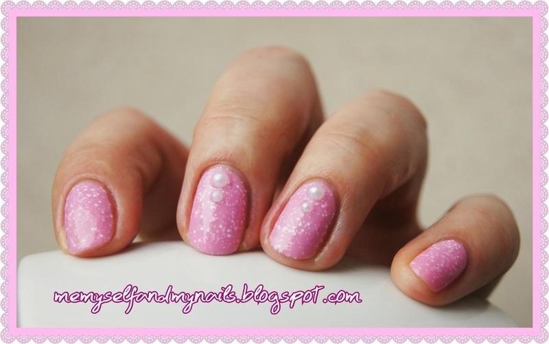 Snowy Pink nail art by ELIZA OK-W
