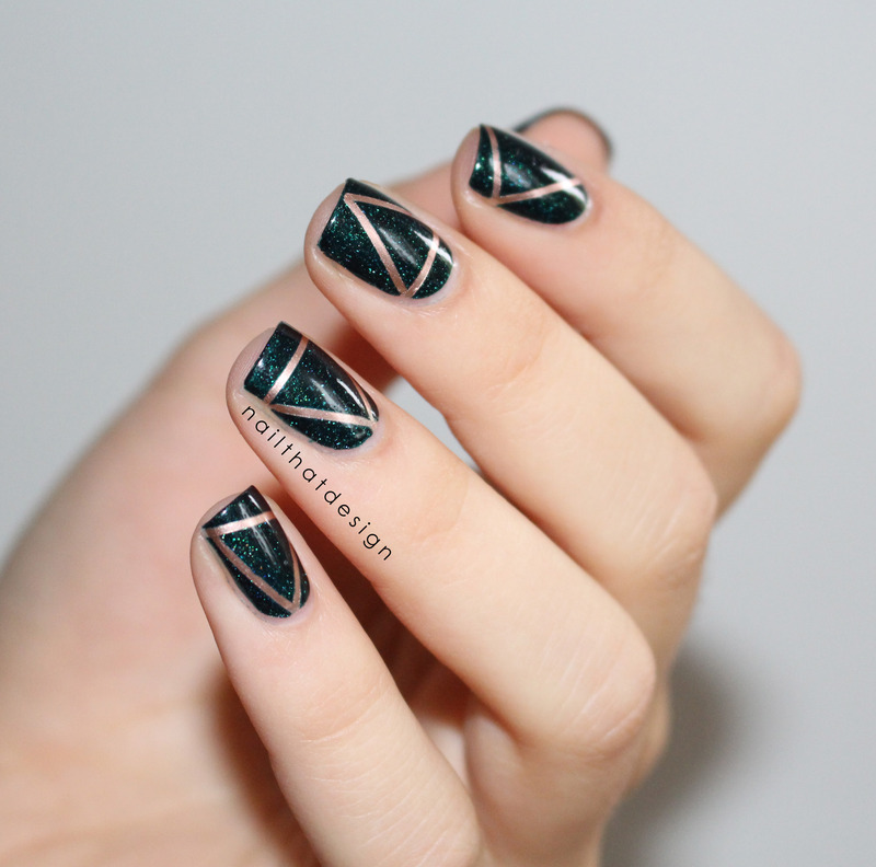 escapades stripes nail art by NailThatDesign