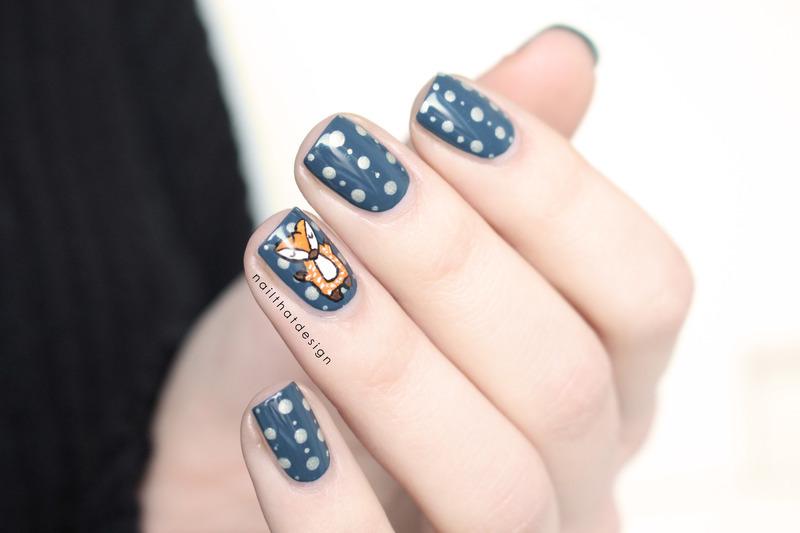 foxy nail art nail art by NailThatDesign