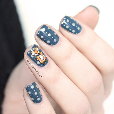 foxy nail art nail art by NailThatDesign