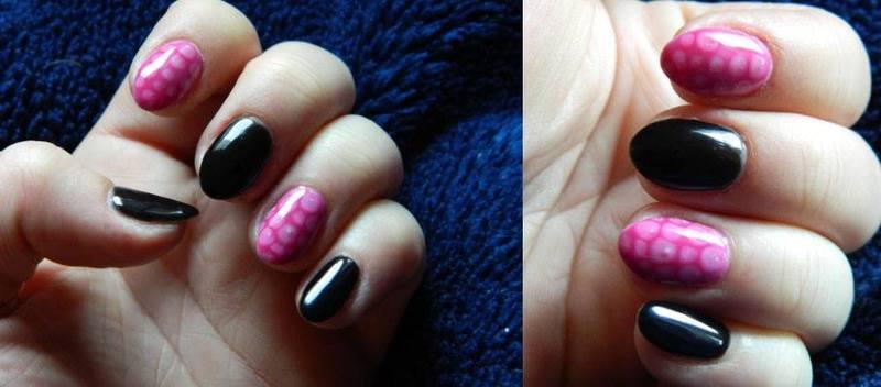 Snake skin nail art by Magda