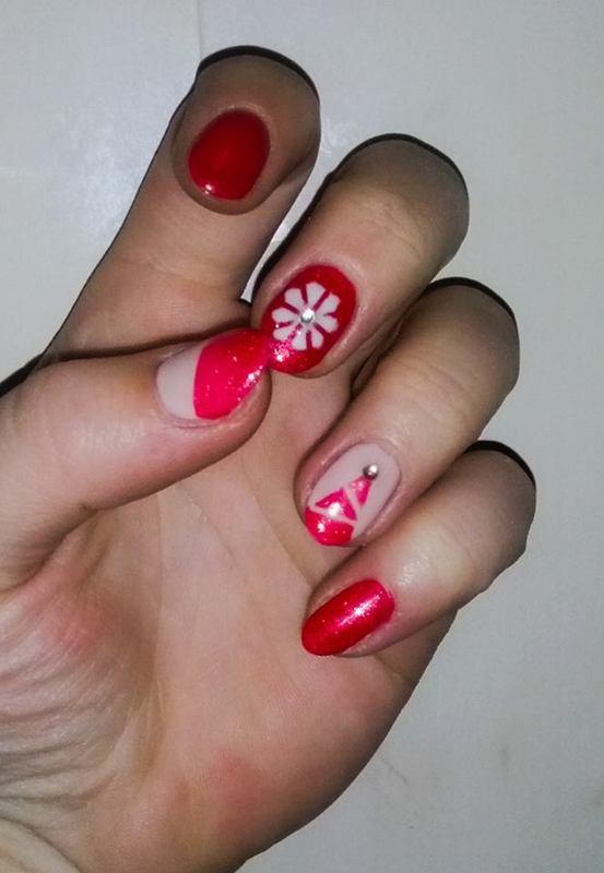 Christmas nail art by Magda