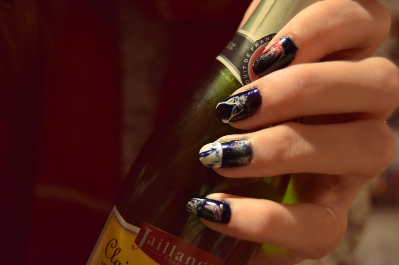 Happy New Year 2016 nail art by i-am-nail-art