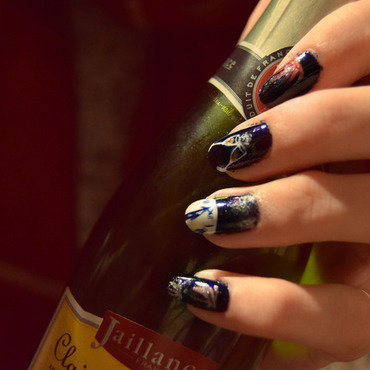 Happy New Year 2016 nail art by i-am-nail-art