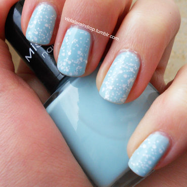 Ice and Snow nail art by Raindrop